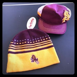 ASU Baseball Cap and Beanie (NEW) SUN DEVILS